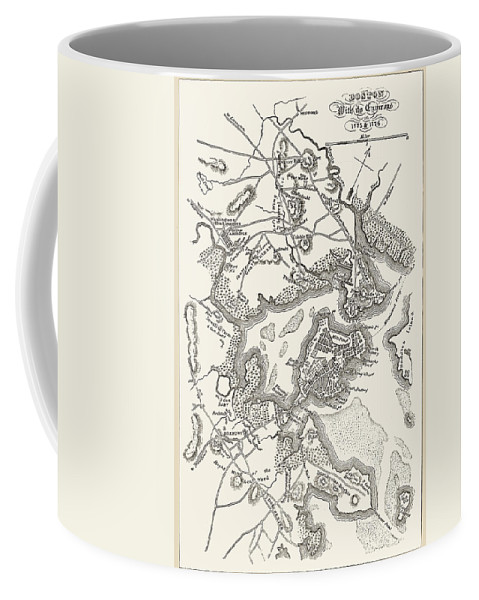 1775 Coffee Mug featuring the photograph Boston: Map, 1775-1776 by Granger