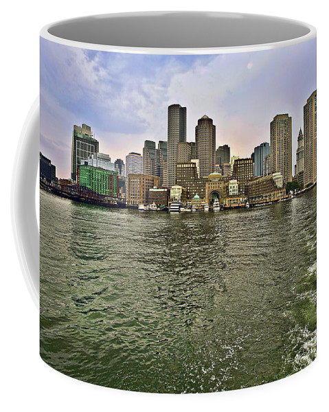 Boston Coffee Mug featuring the photograph Boston Skyline At Sunset by Marcia Colelli