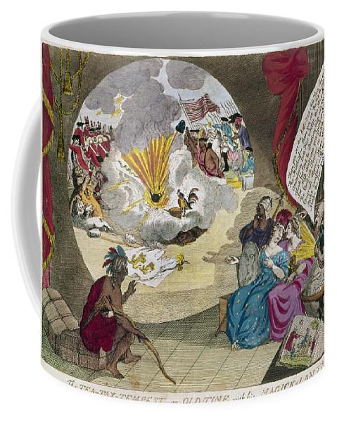 1783 Coffee Mug featuring the photograph Boston Tea Party Cartoon by Granger