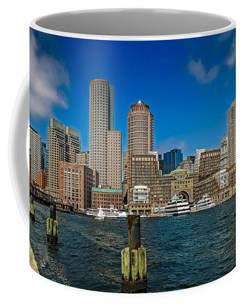 Boston Coffee Mug featuring the photograph Boston Waterfront Skyline by Robert Mitchell