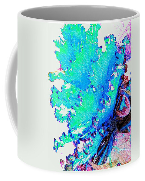 Botanical Colored Pencil Works Coffee Mug featuring the photograph Botanica Fantastica II by Pamela Smale Williams