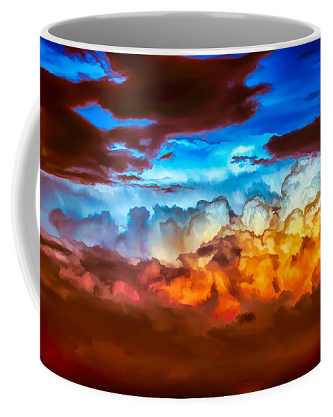 Clouds Coffee Mug featuring the painting Both Sides by John Haldane