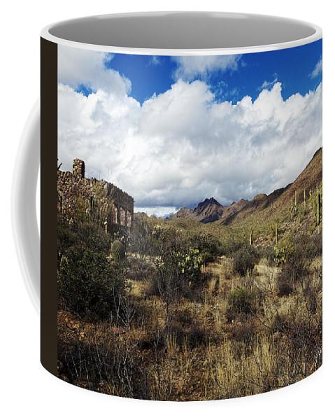 Arizona Coffee Mug featuring the photograph Bowen Homestead Ruins by Phill Doherty