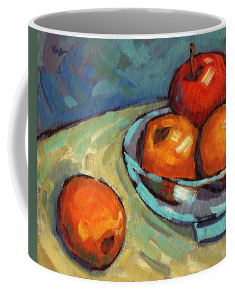 Lemons Coffee Mug featuring the painting Bowl Of Fruit 2 by Konnie Kim