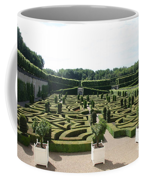 Garden Coffee Mug featuring the photograph Boxwood Garden Design - Chateau Villandry by Christiane Schulze Art And Photography