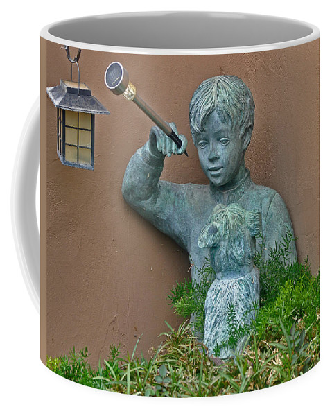 Animals Coffee Mug featuring the photograph Boy And His Dog by Jay Milo