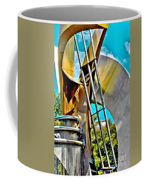 Boyd Plaza Coffee Mug featuring the photograph Boyd Plaza Fountain Revisited by Samantha Glaze