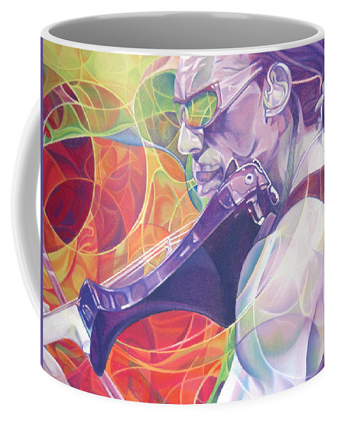 Boyd Tinsley Coffee Mug featuring the drawing Boyd Tinsley And Circles by Joshua Morton