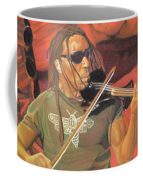 Boyd Tinsley Coffee Mug featuring the drawing Boyd Tinsley At Red Rocks by Joshua Morton