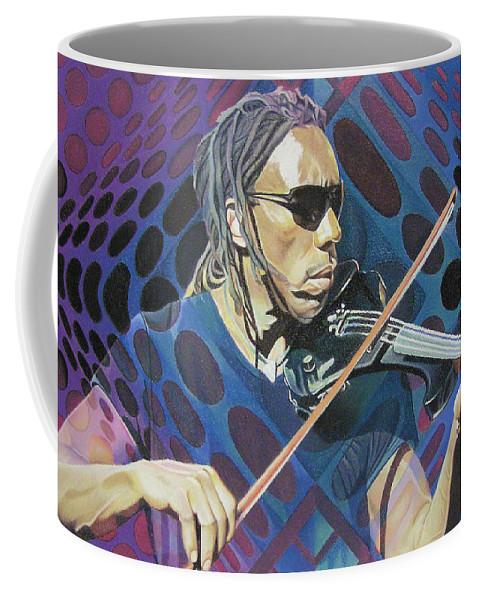 Boyd Tinsley Coffee Mug featuring the drawing Boyd Tinsley Pop-op Series by Joshua Morton