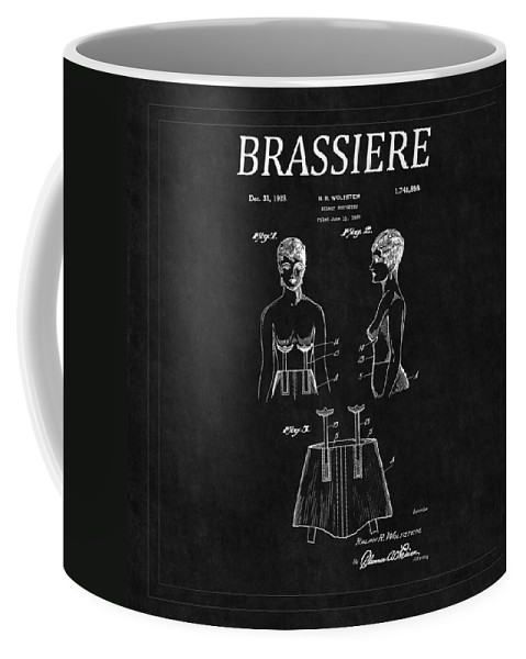 Bra Coffee Mug featuring the photograph Bra Patent 16 by Andrew Fare
