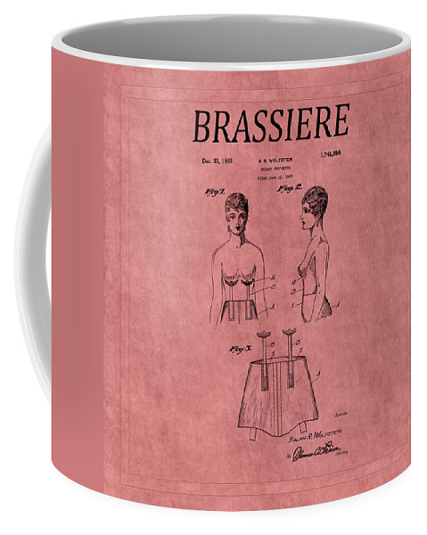 Bra Coffee Mug featuring the photograph Bra Patent 17 by Andrew Fare