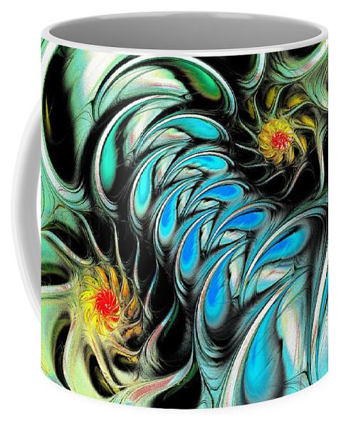 Malakhova Coffee Mug featuring the digital art Brain Stimulation by Anastasiya Malakhova