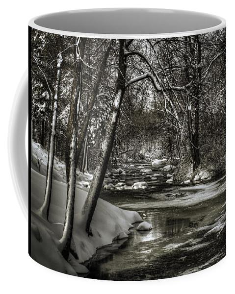 Brainards Bridge Park Coffee Mug featuring the photograph Brainards Bridge After A Snow Storm 4 by Thomas Young