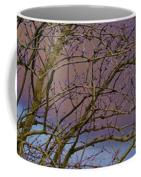 Branches Coffee Mug featuring the digital art Branches by Carol Lynch