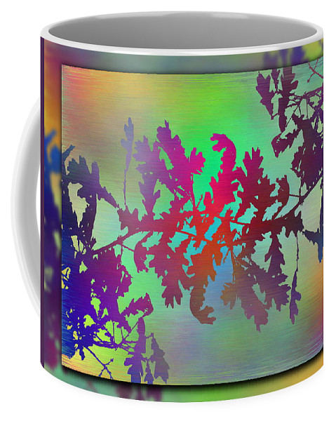 Abstract Coffee Mug featuring the digital art Branches In The Mist 25 by Tim Allen