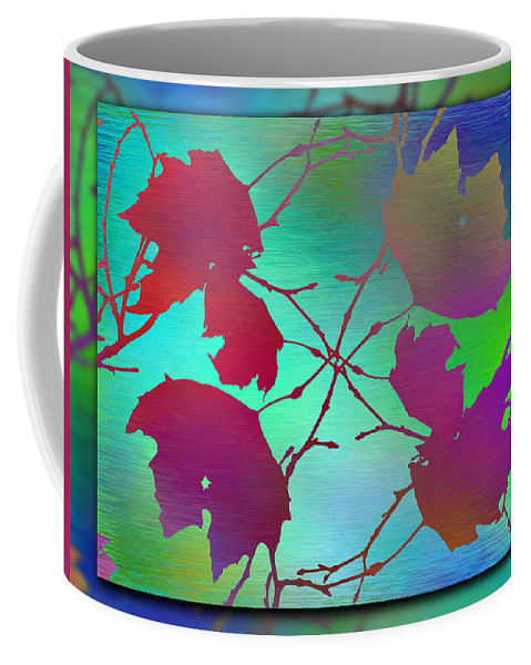 Abstract Coffee Mug featuring the digital art Branches In The Mist 72 by Tim Allen