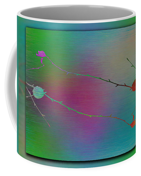 Abstract Coffee Mug featuring the digital art Branches In The Mist 73 by Tim Allen