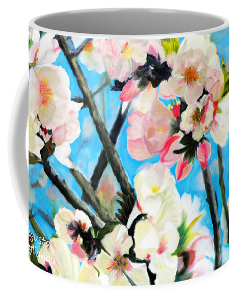 Augusta Stylianou Coffee Mug featuring the painting Branches Of Almond Tree by Augusta Stylianou