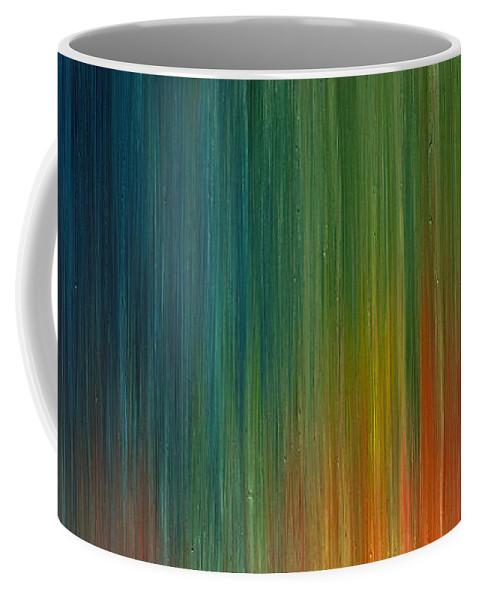 Derek Kaplan Art Coffee Mug featuring the painting Break Of Dawn by Derek Kaplan