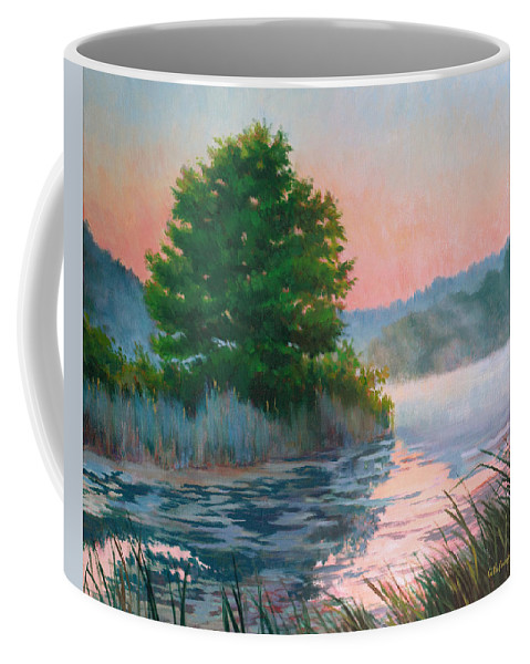 Impressionism Coffee Mug featuring the painting Break Of Day by Keith Burgess