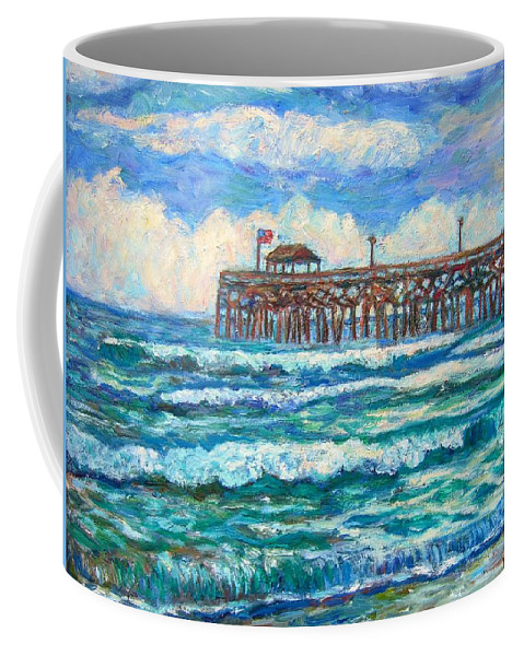 Shore Scenes Coffee Mug featuring the painting Breakers At Pawleys Island by Kendall Kessler