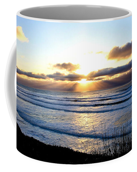 Sunset Coffee Mug featuring the photograph Breaking Dawn by Athena Mckinzie