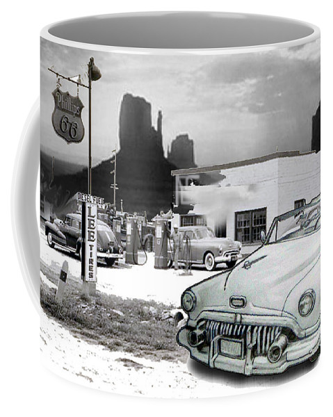 Coffee Mug featuring the drawing Breaktime by Keith Spence