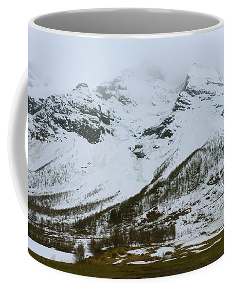 Coffee Mug featuring the photograph Breath Of Norse Gods by Katerina Naumenko