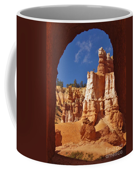 Tunnel Coffee Mug featuring the photograph Breathtaking View by Tonya Hance