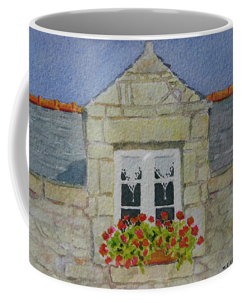 France Coffee Mug featuring the painting Bretagne Window by Mary Ellen Mueller Legault