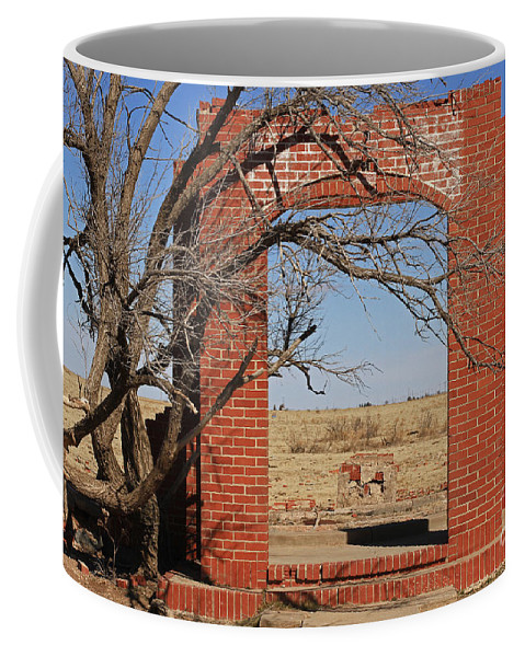 Texas Coffee Mug featuring the photograph Brick Entry 1 by Ashley M Conger