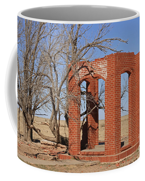 Texas Coffee Mug featuring the photograph Brick Entry 2 by Ashley M Conger