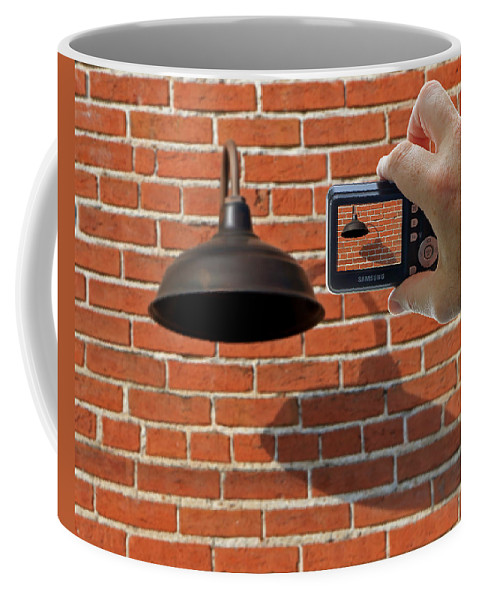 Brick Wall Coffee Mug featuring the photograph Brick Wall Snap Shot by Christopher McKenzie