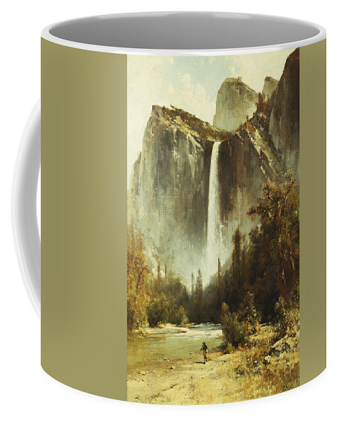 19th Century Coffee Mug featuring the painting Bridal Falls by Thomas Hill