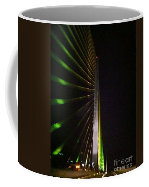 Sun Coffee Mug featuring the photograph Bridge At Night by Melissa Darnell Glowacki