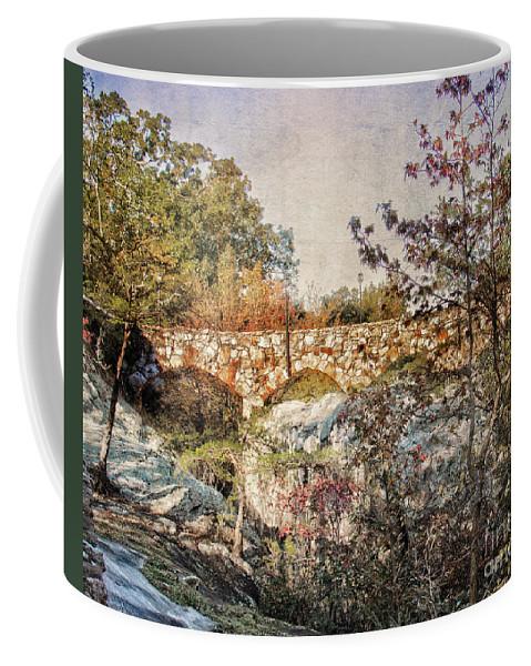 Scenic Coffee Mug featuring the photograph Bridge At Rock City by Tom Gari Gallery-Three-Photography