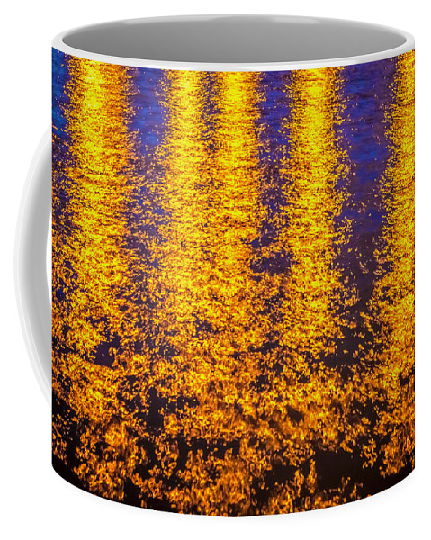 Bridge Of Lions Coffee Mug featuring the photograph Bridge Of Lions Reflections St Augustine Florida Painted  by Rich Franco