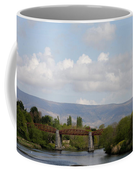 River Coffee Mug featuring the photograph Bridge Over A River by Christiane Schulze Art And Photography