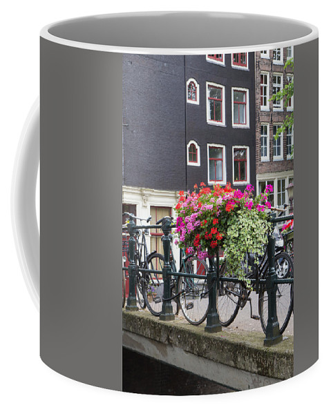 Europe Coffee Mug featuring the photograph Bridge Over Canal In Amsterdam by Jaroslav Frank