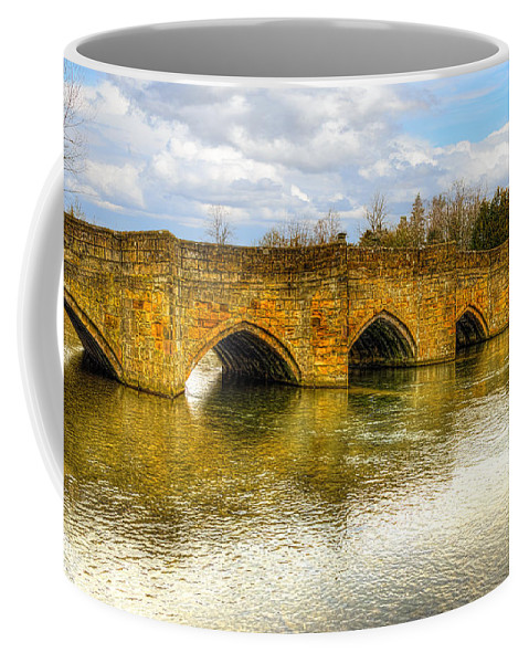 English Coffee Mug featuring the photograph Bridge Over The River Wye by Nick Field