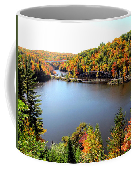 Fall Coffee Mug featuring the photograph Old Bridge, New Bridge by Jaunine Roberts