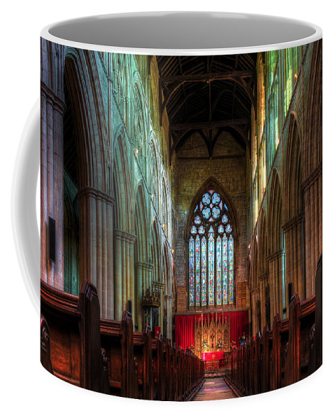 Abbey Coffee Mug featuring the photograph Bridlington Priory Hall by Svetlana Sewell