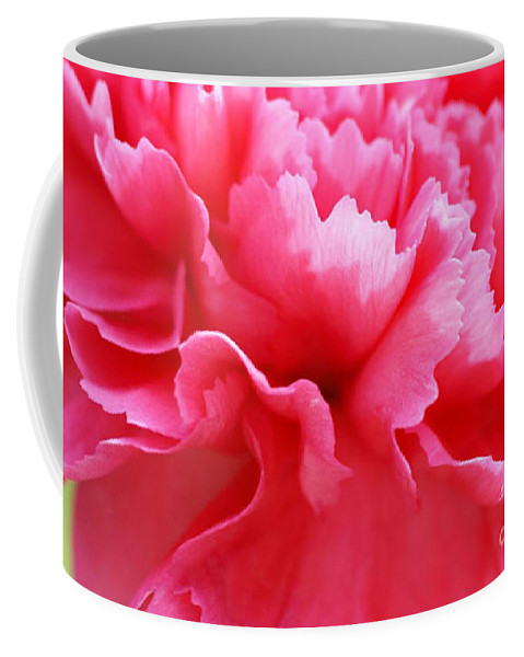 Carnation Coffee Mug featuring the photograph Bright Carnation by Carol Lynch