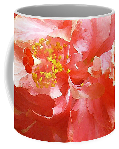 Hibiscus Coffee Mug featuring the digital art Bright Pink Hibiscus by James Temple