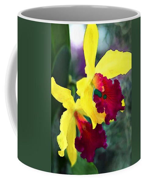 Nature Coffee Mug featuring the painting Bright Spot In The Jungle by Elaine Plesser