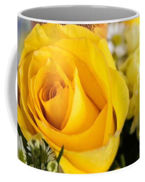 Flowers. Flower. Floral. Garden Coffee Mug featuring the photograph Bright Yellow Rose by Arlene Carmel