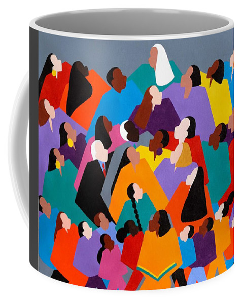 Figurative Coffee Mug featuring the painting Brilliance by Synthia SAINT JAMES