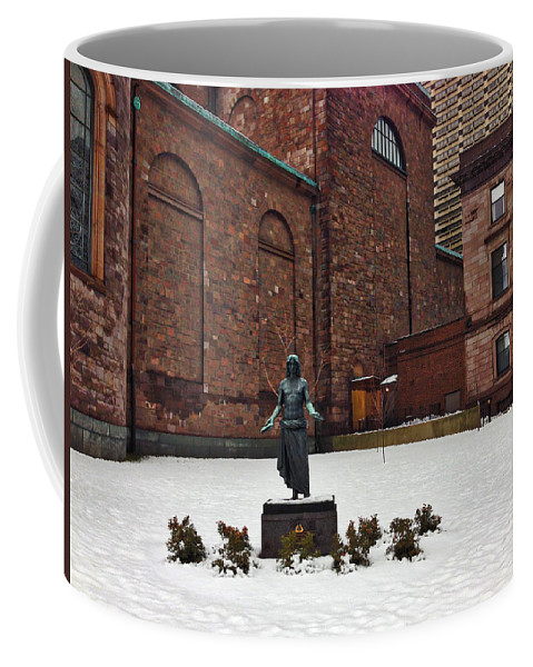 Jesus Statue Coffee Mug featuring the photograph Bring Me by Alice Gipson