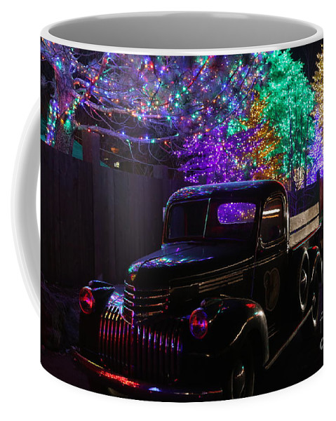 Christmas Cards Coffee Mug featuring the photograph Bringing Home The Tree by Marty Fancy